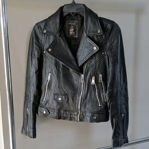 Zara TRF black leather jacket  XS